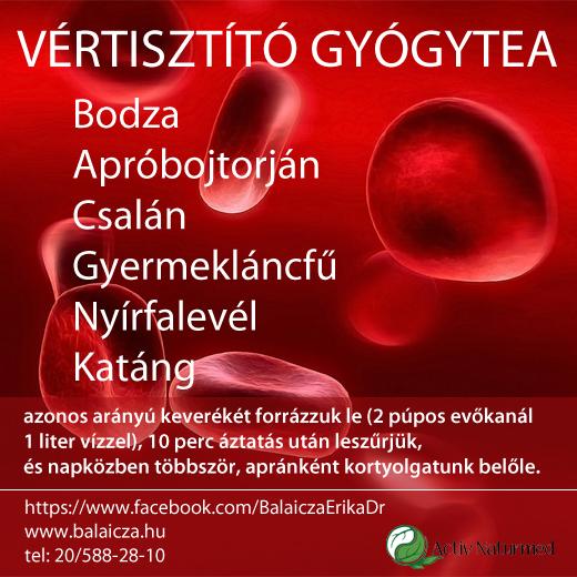 Bükki gyógyteák gyógyhatások szerint